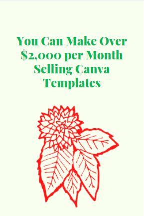 earn money by selling canva templates